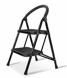 Laddersmall Folding Sturdy Step Stool For Kitchen Home Closetwide 2 Step