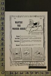 1956 Toy Ad Rocking Hobby Wonder Horse Pony Mare Spring Collierville Tenn Te11