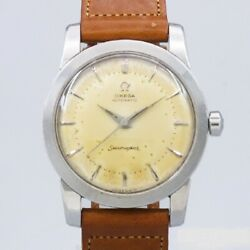 Omega Seamaster 2767-1sc Original Two-tone Dial Automatic Vintage Watch 1952's