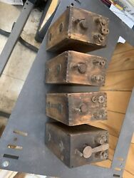 Four4 Antique Collectible Ford Model 't' Type Wood Battery Box Ignition Coil