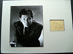 John Garfield The Postman Always Rings Twice Hand Sign Autograph And Photo