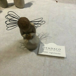 Demdaco Willow Tree Angel Of Miracles With Bird 2002 Susan Lordi