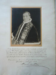 Pope Benedict Xv Signed Benediction 1915 - Papal Blessing - Vatican Relic