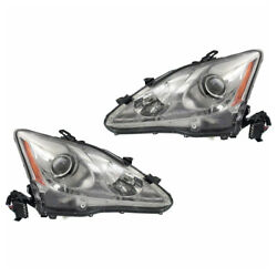 For 09-10 Is250/is350 Front Headlight Headlamp Xenon Head Light Lamp Set Pair