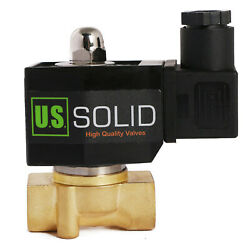 U.s. Solid 3/8 Npt Electric Solenoid Valve 12v Dc Normally Closed Brass
