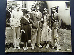 Clark Gable Rare Unseen Vintage Early Photo With Friends Autograph Photo
