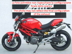 Double Exhaust Conical Zard Titanium Approved Ducati Monster 1100 S 2008 - 10