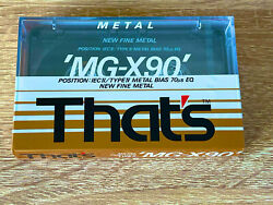 Thatand039s And039mg-x90and039 Metal Position Type Iv Cassette Tape 1990 Made In Japan