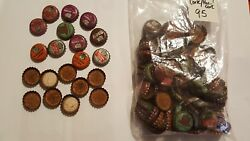 Vintage Soda Pop Bottle Caps Canada Dry Cork And Uncorked Lined - Lot Of 95