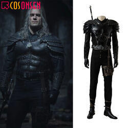 Geralt Of Rivia Cosplay Costume Armor Deluxe Leather Full Set Custom Made Lot