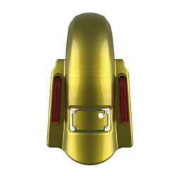Eagle Eye Yellow Dominator No Cutout Stretch Rear Fender Fit 14+ Harley Touring
