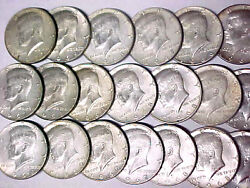 Lot Of 20 Kennedy 40 Silver Half Dollars 1965-1969 10 Face Value 52220