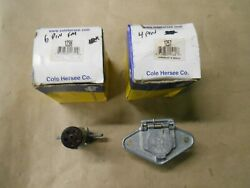 Cole Hersee Trailer Wiring Harness Connectors, 6 Pin Male End, 4 Pin Female End.
