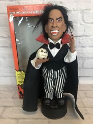 Vtg Telco Motionettes Dracula Halloween Motion-ettes 18andrdquo Lights Up Moves Sound