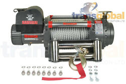 20000lb Samurai Electrical 24v Winch With Steel Cable Warrior 200ss24