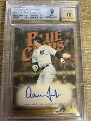 2019 Topps Finest Blue Chips Aaron Judge 1/1 Superfractor Auto Bgs 9 W/ 10