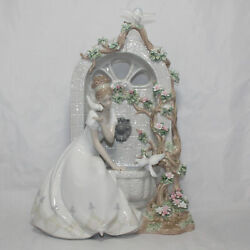 Lladro Figurine 1876 Spring Of Love As Is Damaged Flowers