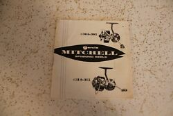 Garcia Mitchell Spinning Reels 304-305 314-315 Booklet Parts List And Instruction