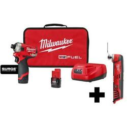 12-volt Li-ion Brushless Cordless 1/4 Inch Hex Impact Driver With Multi Tool Kit