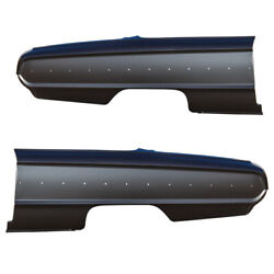 Rear Set Of 2 Lh And Rh Side Quarter Panel Amd Fits 1964 Ford Galaxie