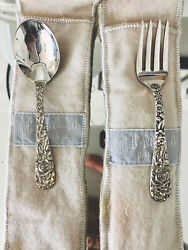 S. Kirk And Son Repousse Sterling Silver Baby Fork And Spoon Set 👶🏼 Unused