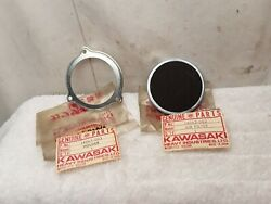 Nos New Oem Kawasaki Air Filter Cleaner And Holder 1971 F81m 14063-002 14065-003