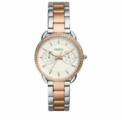 Fossil Women's Tailor Multifunction Two‑tone Watch Es4396 - Sealed Box