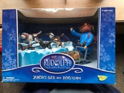 Rudolph And The Island Of Misfit Toys-yukonand039s Sled And Dog Team-memory Lane-nib