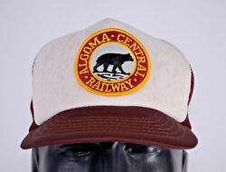 Algoma Central Railway Trucker Mesh Back Snapback Hat Patch Embroidered Hipster