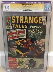 Strange Tales 126 Cgc 7.0 1st Appearance Of Clea Dormammu Signed By Stan Lee