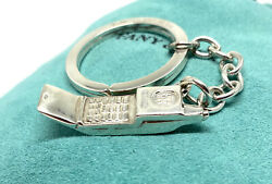 And Co. Sterling Cellphone Telephone Phone Key Ring Chain
