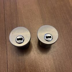 Lot Of 2 High-security Mortise Cylinder Miwa E9 Magnetic Unpickable No Keys