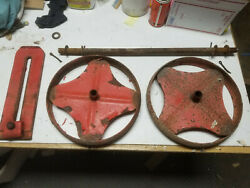 Gravely Rotary Plow Tiller Wheels Axle And Bracket L Li Tractor Cultivator