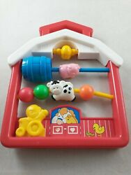 Vintage 1991 Fisher Price Activity Center Busy Board Crib Toy Farm Barn Ff