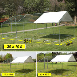 Large Walk in Chicken Coop Hen House Enclosure Backyard Poultry Cage w Cover XL