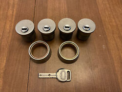 Lot Of 4 High-security Mortise Cylinder Miwa E9 Magnetic Unpickable W/ 1 Key