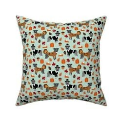 Pitbull Thanksgiving Throw Pillow Cover W Optional Insert By Roostery