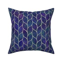 Leaf Tile Texture Grout Curve Throw Pillow Cover W Optional Insert By Roostery