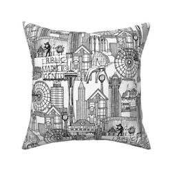Sharon Turner Seattle Usa Throw Pillow Cover W Optional Insert By Roostery