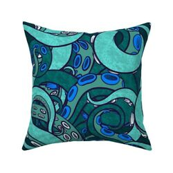 Tentacle Arms Suckers Sea Throw Pillow Cover W Optional Insert By Roostery