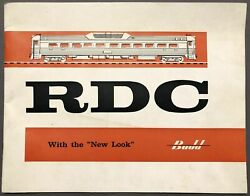Rdc With The New Look 1956 Large Booklet Promoting The Budd Co Rail Diesel Car