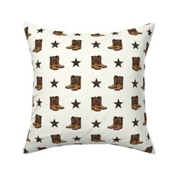 Cowboy Boots Country Cowgirl Throw Pillow Cover W Optional Insert By Roostery