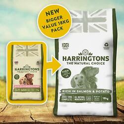 Harringtonand039s Dog Food Complete Rich In Salmon And Potato 18 Kg Free Pandp New