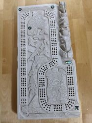 Antique Reproduction Carved Marble Mayan Or Inca Board Game