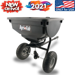 Spreader 85 Lb Behind Broadcast Tow Hopper Fertilizer Seed Atv Lawn Tractor Pull