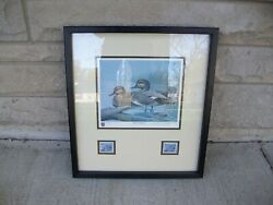 Ducks Unlimited Limited Edition 1986 Illinois Duck Stamp Print Signed 215/600