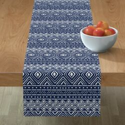 Table Runner Tribal Mud Cloth Mudcloth African Thin Line Textiles Cotton Sateen