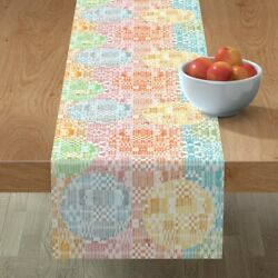 Table Runner Textiles African Lady Ladies Strong Leaves Batik Cotton Sateen