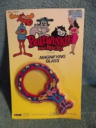 Vintage Bullwinkle And Rocky Magnifying Glass Mip Larami