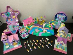 Rare Vintage 1996 Polly Pocket Magical Moving Polly Playset W/ Dolls And More